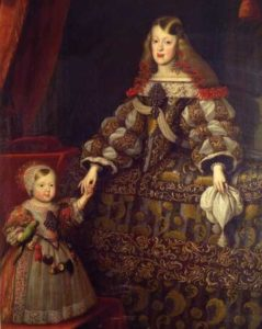 王女マルガリータと彼女の子供