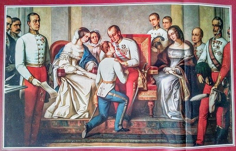 皇位を継承したフランツ・ヨーゼフ1世(1848年12月2日)