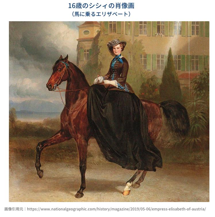 エリザベート16歳の肖像画
