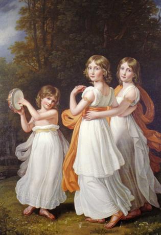 エリザベートとゾフィ (ゾフィと双子の姉マリア・アンナと妹ルドヴィカ)