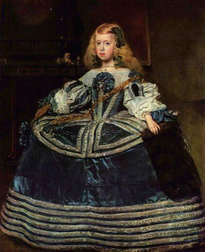 青いドレスの王女がかわいい