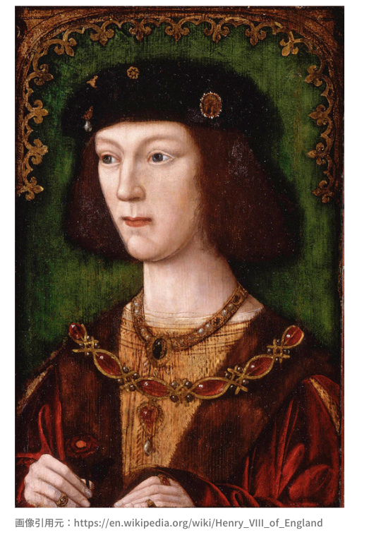 即位直後、18歳のヘンリー8世