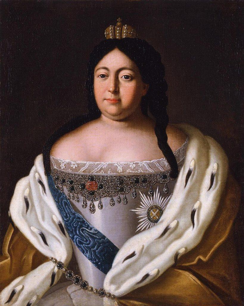 女帝アンナ  未知のアーティスト、ロシア、18世紀。