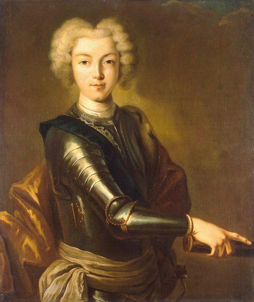 ロシアのピーター2世の肖像(1715-1730)