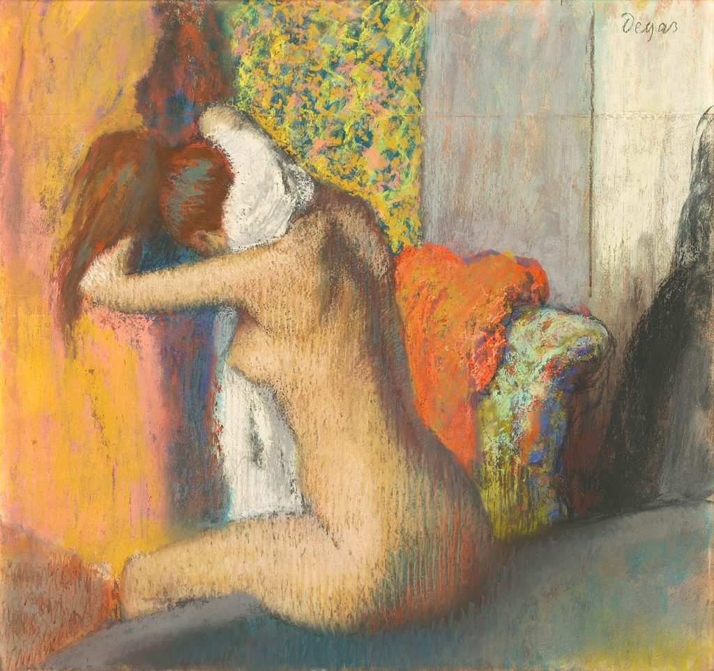 After the Bath, Woman Drying her Nape, pastel on paper, 1898