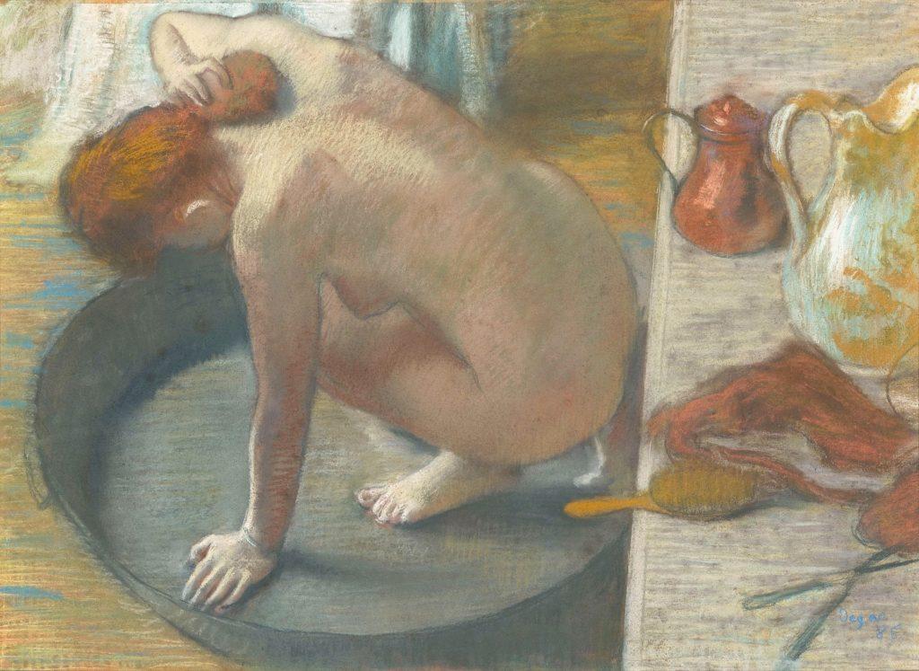 """『浴盤』(1886) オルセー美術館 """"Le tub"""""""