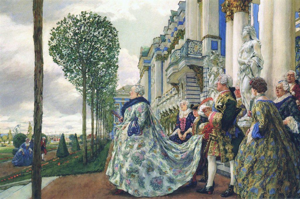 E.ランセレ。 「ツァールスコエ・セローのエリザベス・ペトロヴナ」(1905年)。