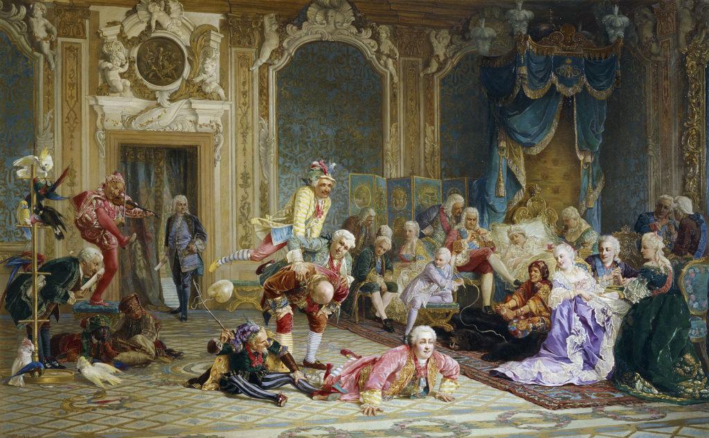 『アンナの野卑な宮廷』 ヴァレリー・ヤコビ画、1872年