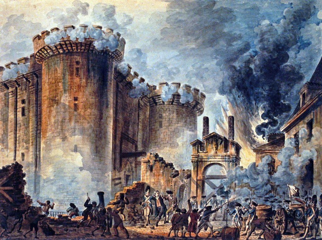 """『バスティーユ襲撃』(""""La Prise de la Bastille"""") Jean-Pierre Louis Laurent Houel"""