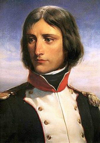 23歳のナポレオン・ボナパルトは、コルシカ共和党の志願兵大隊の大佐であった。アンリ・フェリックス・エマニュエル・フィリップポトーの肖像