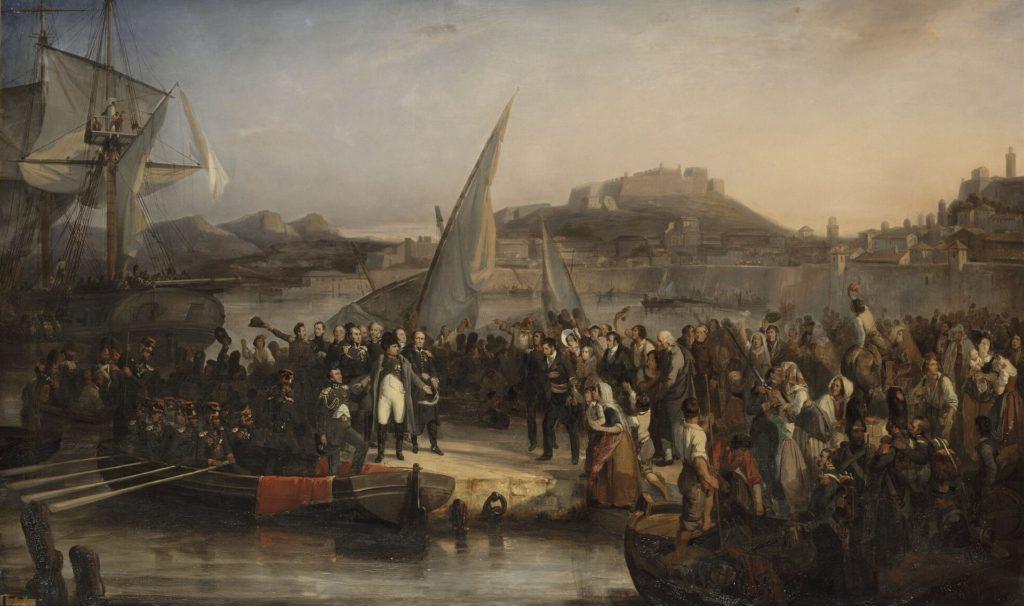 1815年2月26日にエルバを出るナポレオンボナパルト