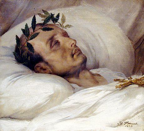 ナポレオンの死を描いた1826年の絵画