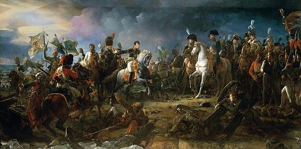 1805年、フランソワ・ジェラールによるアウステルリッツの戦いでのナポレオン