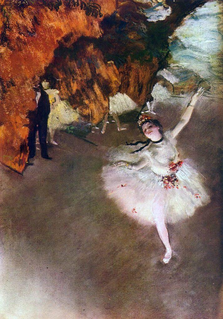 『踊りの花形(エトワール、あるいは舞台の踊り子とも呼ばれる)』(1878年頃) オルセー美術館