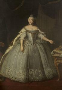 エリザベス・ペトロヴナの肖像。アーティストIvan Vishnyakov(1743)。
