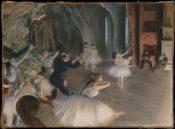 『舞台のバレエ稽古』(1874) メトロポリタン美術館