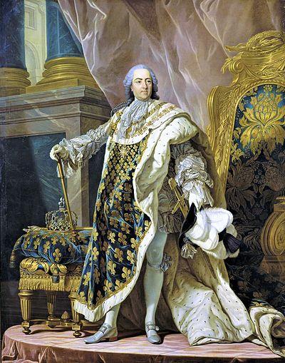 ルイ15世(ルイ=ミシェル・ヴァン・ロー画、ヴェルサイユ宮殿蔵)