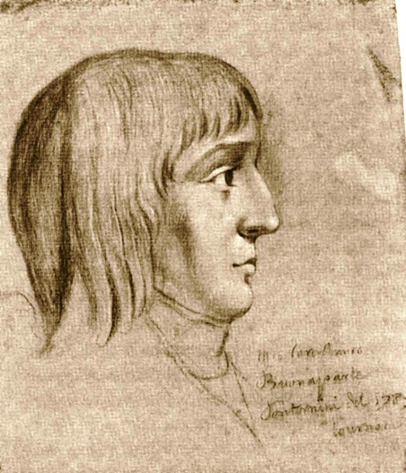16歳のナポレオン(未知の芸術家によるチョークデッサン、1785年)