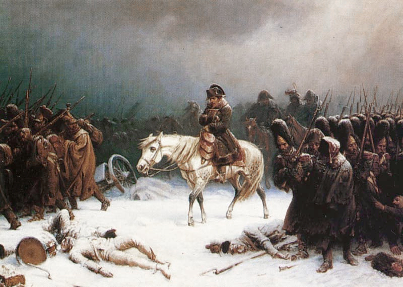 ナポレオンのロシアからの撤退、アドルフ・ノーセンによる絵画