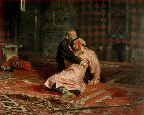 『イヴァン雷帝と皇子イヴァン』(イリヤ・レーピン画)