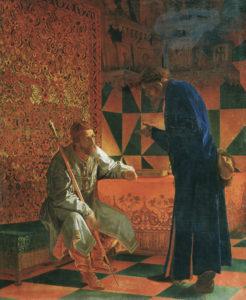 イヴァン4世とオプリーチニキの首領スクラートフ