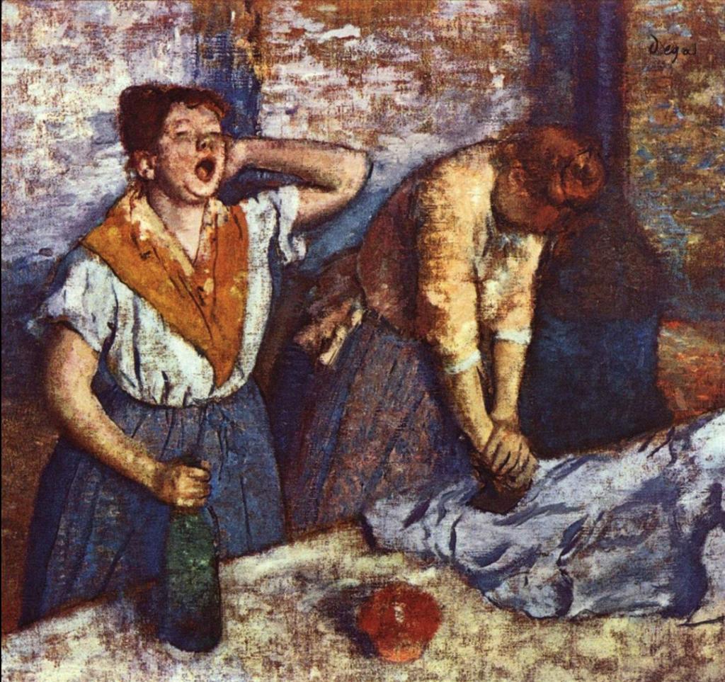 『アイロンをかける2人の女』(1884) オルセー美術館