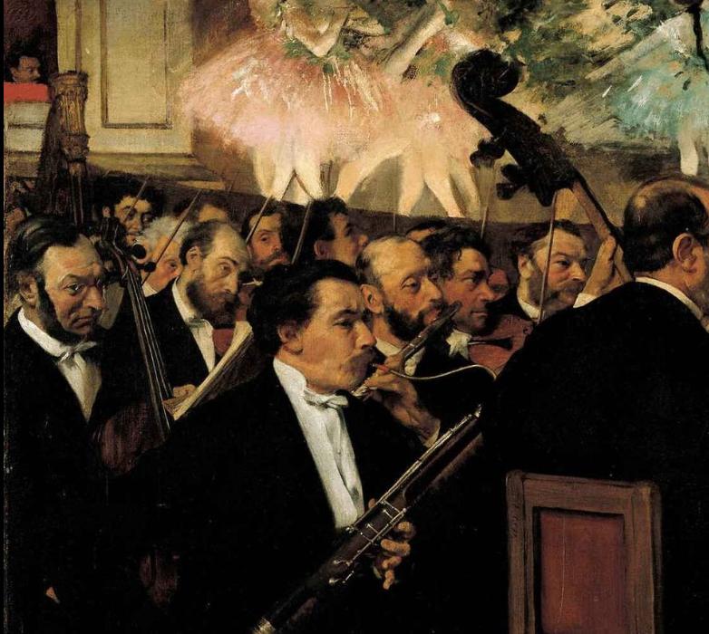 『オペラ座のオーケストラ』(1870) オルセー美術館