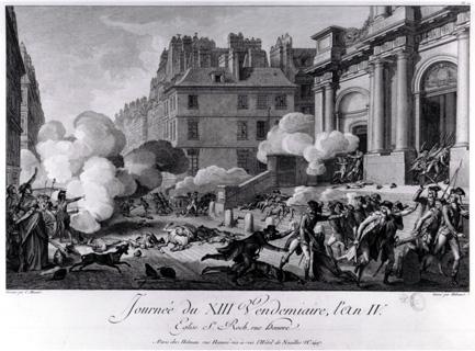 ヴァンデミエールの反乱。サントノレ通りのサン=ロック教会界隈