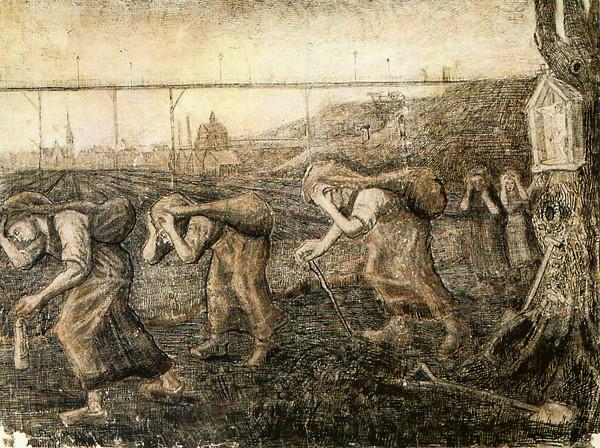 袋を運ぶ炭鉱夫の妻、重荷を運ぶ人 (ゴッホ)
