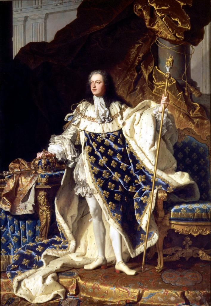 『ルイ15世』イアサント・リゴー作、1730年、(ヴェルサイユ宮殿蔵)