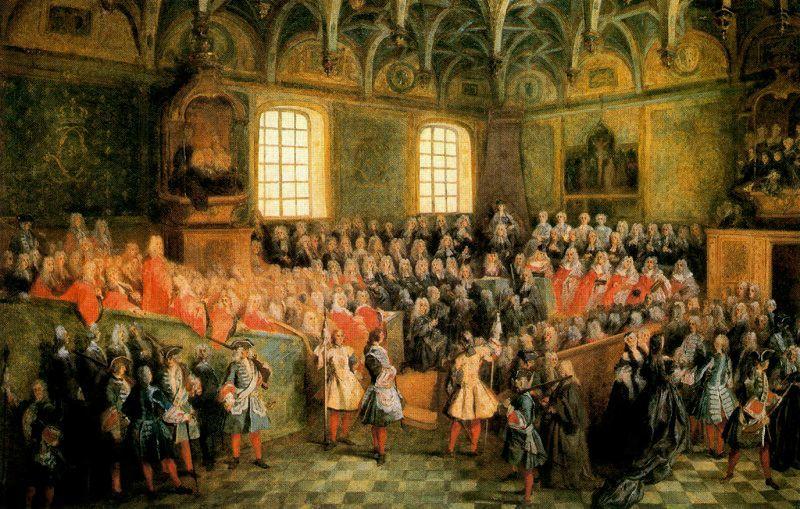 パリの旧高等法院での正義の座席