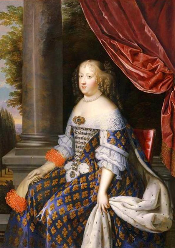 Detail of Marie Thérèse d'Autriche by Nocret