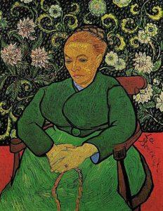 「'La Berceuse'」と書いているため、「子守歌」という副題が付けられることがある。「ルーラン夫人の肖像」「子守するルーラン夫人」