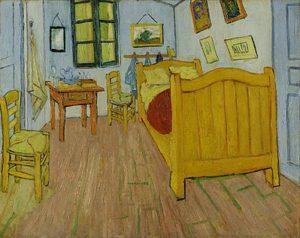アルルの寝室、1888年。ヴァン・ゴッホ美術館、アムステルダム