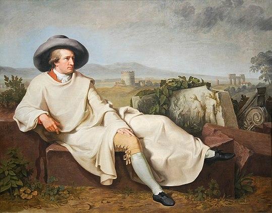 ローマ近郊におけるゲーテの肖像(1786年/1787年、ヨハン・ハインリヒ・ヴィルヘルム・ティシュバイン画)