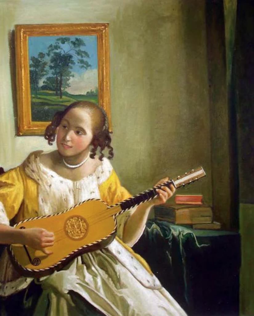 ギターを弾く女 フェルメール