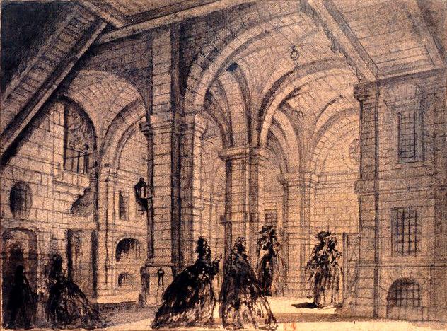 バスティーユの内部 フラゴナール画 1785年
