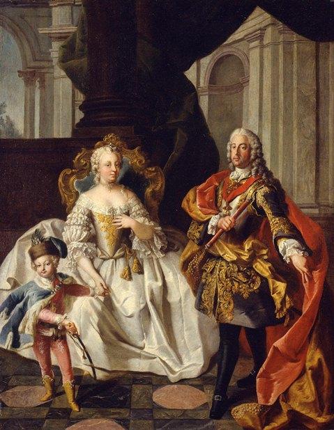 1747年、皇帝夫妻とヨーゼフ (マリー・アントワネットの最後 フランス王妃の覚悟)