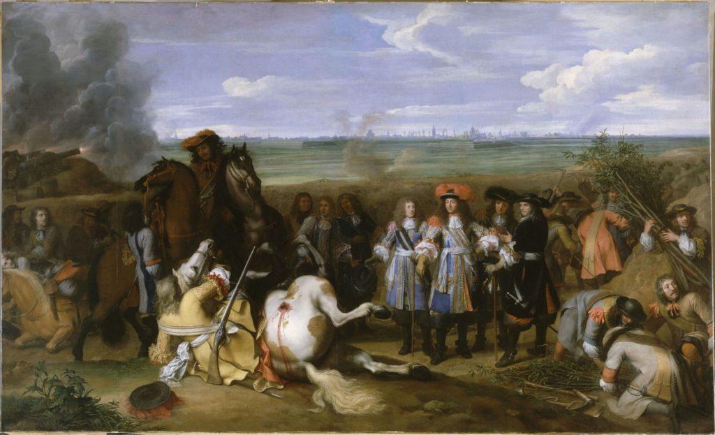 帰属戦争におけるルイ14世。 シャルル・ルブラン画、1667年