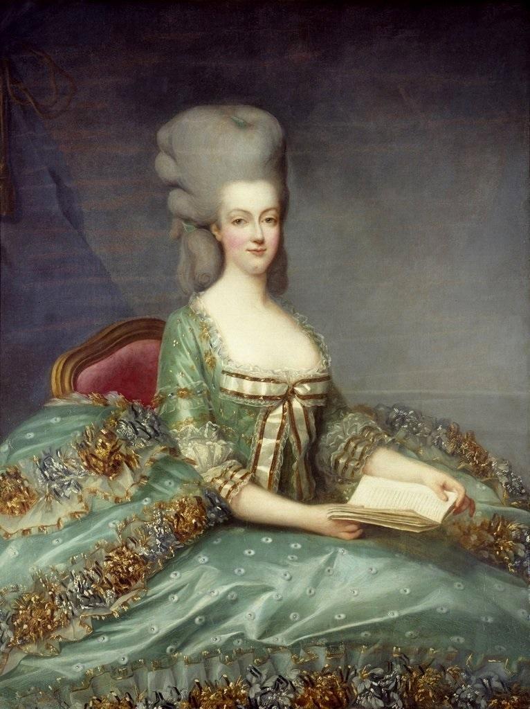 1781年に描かれたマリーアントワネット