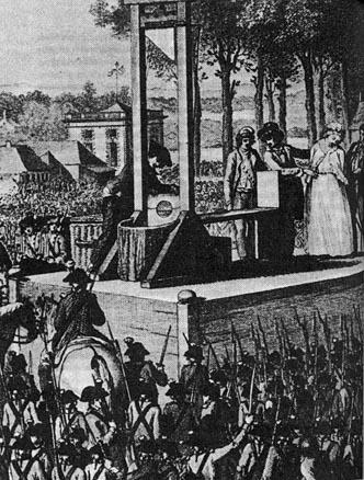 王妃マリー・アントワネットのギロチン処刑