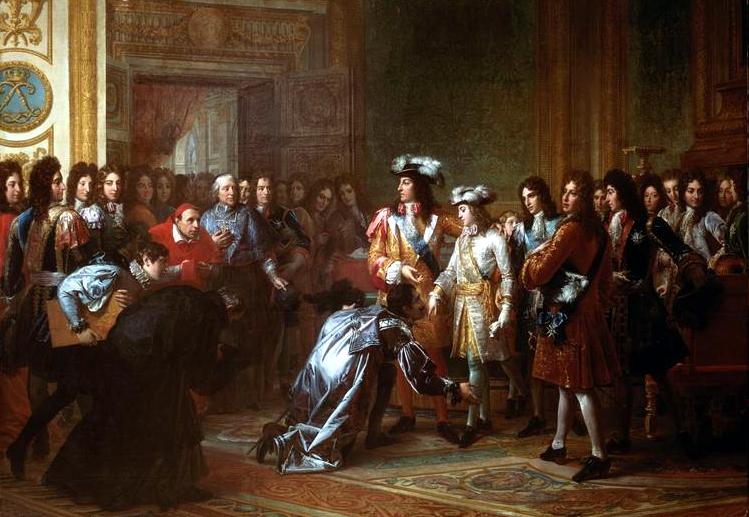 アンジュー公フィリップのスペイン王位承認。1700年11月16日 フランソワ・ジェラール画、19世紀前半。