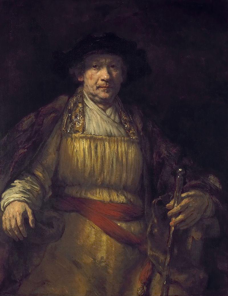 (レンブラントの自画像 1658年)