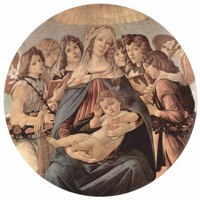 ザクロの聖母 1487年、ウフィツィ美術館所蔵