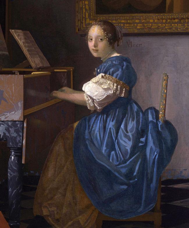 【ヴァージナルの前に座る若い女性】フェルメールの絵画に秘められたアレコレを解説