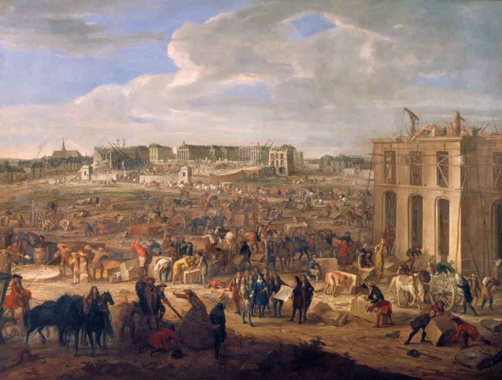 1669年、アダム・フランソワ・ファン・デル・ミューレンによるヴェルサイユ宮殿の建築