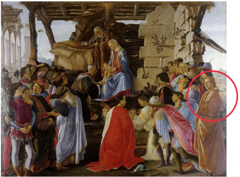 東方三博士の礼拝(1475年頃、ウフィツィ美術館所蔵)