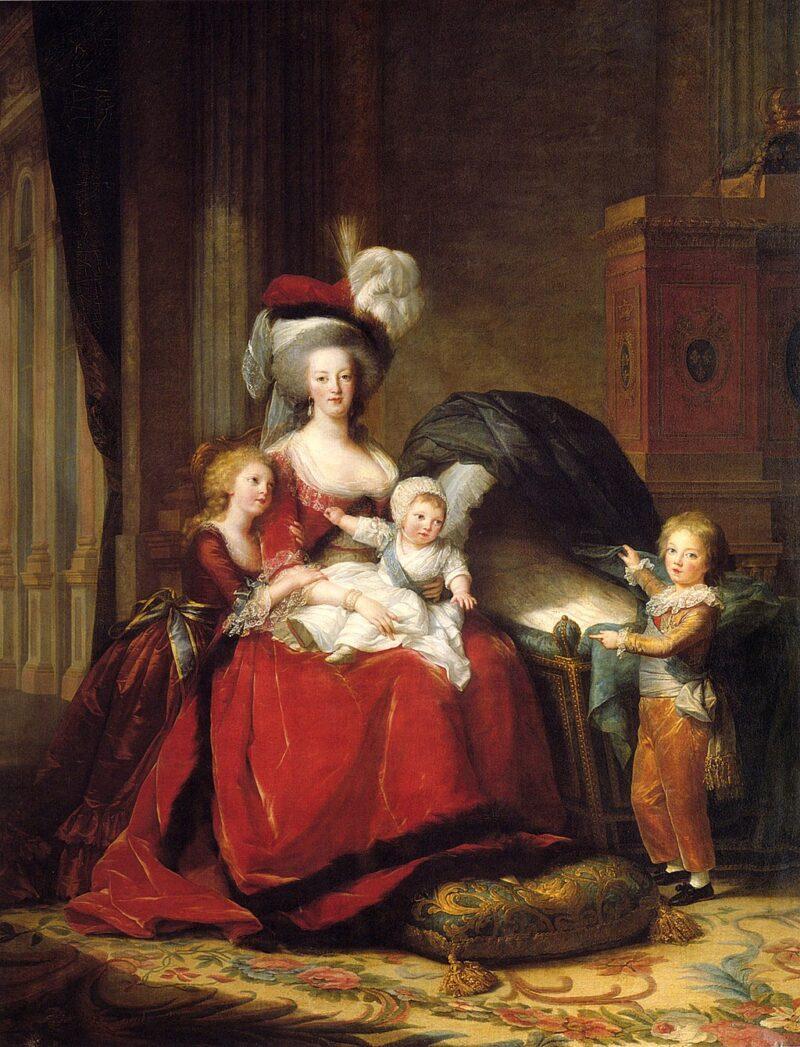 マリーアントワネットと子供達