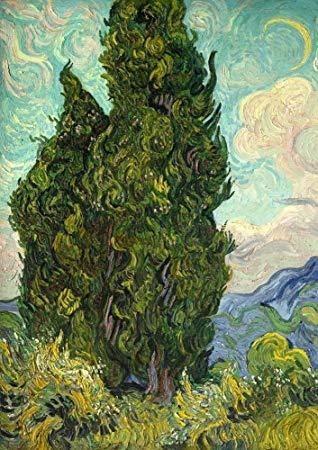 糸杉 1889 晩年に何度も題材になった木。まるで炎が燃えているよう。