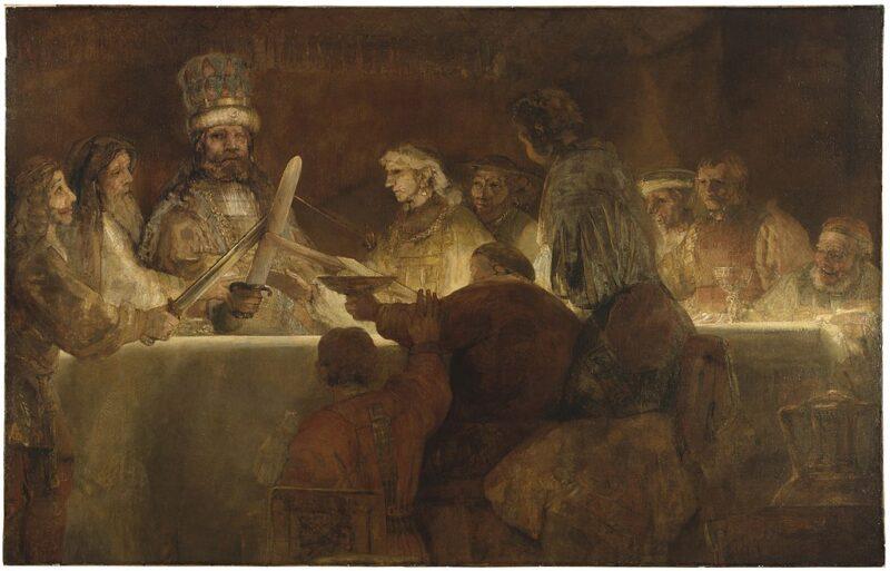 レンブラントの大作 クラウディウス・キウィリスの謀議